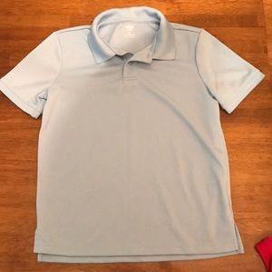 Old Navy Boys Light Blue Sweat Wicking Golf Polo